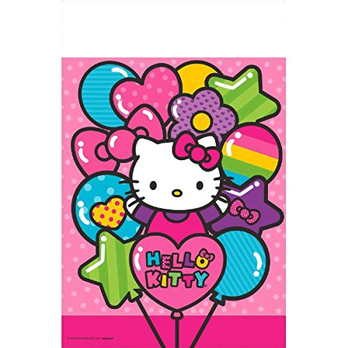 Kostüm Kitty Ideen Halloween Hello (Adorable Hello Kitty Rainbow® Plastic Table Cover Birthday Party Tableware Decoration (1 Piece), Pink, 54 x 96)