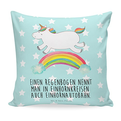 Mr-Mrs-Panda-Kissen-40x40-Einhorn-Regenbogen-mit-Spruch-100-handmade-handbedruckt-Einhorn-Unicorn-Regenbogen-Glitzer-Einhornpower-Erwachsenwerden-Einhornliebe-Einhornautobahn-Kissen-Kissenhlle-Kopfkis