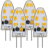 MENGS® 4pieza AC/DC 12V G4LED Bombilla 3W Blanco Frío 6500K 12x 2835SMD con revestimiento de silicona
