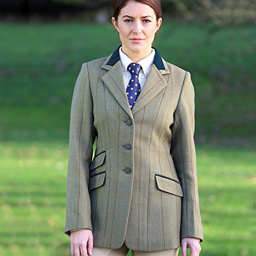 Shires Huntingdon Tweed Competition Jackets Green/Copper