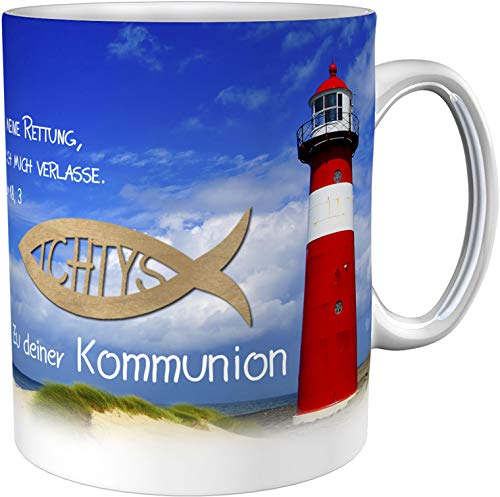metALUm Kaffeetasse Leuchtturm Kommunion # 3300100168