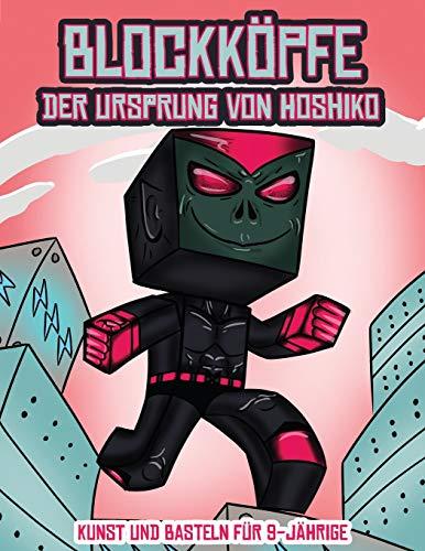 Kunst und Basteln für 9-Jährige (Blockköpfe - Der Ursprung von Hoshiko): Dieses Blockköpfe Papier -Bastelbuch für Kinder kommt mit 3 speziell ... 4 zufälligen Charakteren und 1 Schwebeboard