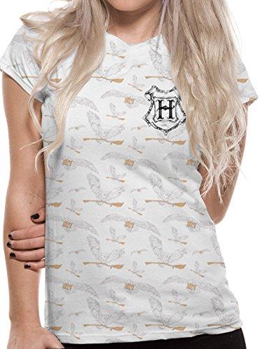 Harry Potter Women's Hedwig Pattern T-Shirt