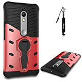 Huphant Compatible for Moto X Play Hülle, Moto X Play Hülle TPU Handyhülle, Huphant Sniper Hybrid Case [Soft TPU 2 in 1 Hülle 360 Protective Case für Moto X Play (5,5 Zoll) - Rot