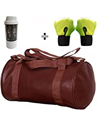 5 O' CLOCK SPORTS Gym Bag Combo Set Enclosed With Soft Leather Gym Bag For Men And Women For Fitness - Bag Size... - B079Y6M23Z