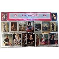 Explora Arte y Pinturas, Conjunto de Sellos Postales - 100 Diferentes del Mundo / Recuerdo Coleccionable