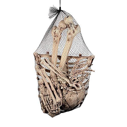Aprigy - Skeleton Tier 100% Kunststoff-Tier-Skelett-Knochen Horror Halloween Weihnachten Prop Tier Crow Skeleton Dekoration Jahres [4 ]