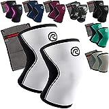 Rehband [1 Paar 5 mm Neopren Kniebandage - Kniestütze + Ziatec Wäschenetz - Crossfit-Kniebandage - Kniegelenk-Bandage - Kniebandage-Krafttraining, Farbe:schwarz/pink, Größe:M - 1 Paar