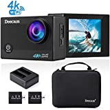Deecam 4K Action Camera 16MP HD Wifi Waterproof Sports DV Camcorder With 170 Ultra Wide-Angle Lens And 2 '' LCD Screen, 2 Pcs Rechargeable Batteries And Portable Package Included