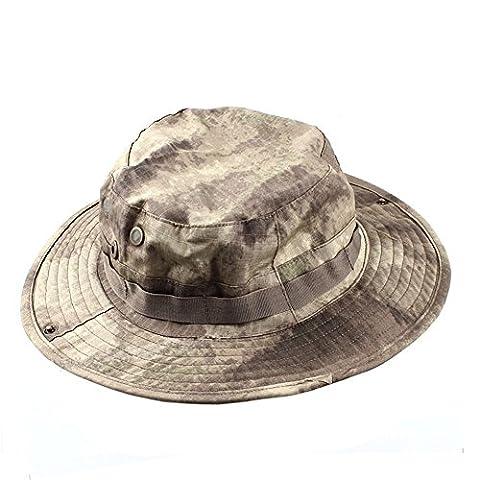 MerryBIY Sports et Extérieur Sun-shading Chapeau Bucket Hat Boonie Camping Chasse Pêche Vert Armée Jungle camouflage Unisex Cap Été Soleil Plage Casquette (A-TACS)