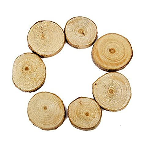 WINOMO 100pcs Round Wood Discs Log Slices