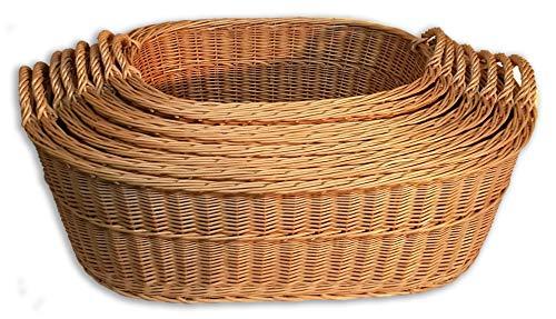 Alpenfell Babykorb Wäschekorb Weidenkorb Tragekorb - in 8 Größen, mit Griff, Handarbeit, sehr stabil (Korb C)