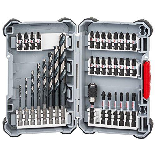 Preisvergleich Produktbild Impact Control HSS Bohrer- und Schrauberbit-Set | 35-teiliges Zubehör-Set bestehend aus 19 Bits mit Länge 25 mm, 6 Bits mit Länge 50 mm, 8 HSS-Bohrer, 1 QC UH, 1 Aufbewahrungsbox