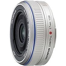 Olympus M.Zuiko Digital 17mm 1:2,8 /  ES-M1728 Objektiv (Micro Four Thirds, 37 mm Filtergewinde) silber