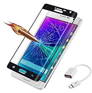 ( Pack of Two ) OTG - White & Full Screen Two Anti-scratch Laser-cut tempered glass Protectors with Curved Edge, Cover Edge-to-Edge, Protect Your Phone from Drops & Impacts, HD Clear, Bubble-free Shockproof It's pressure-resistant & delivering an outstanding durability for your Smart Phone - OnePlus 1