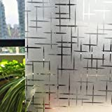 CottonColors statische 3D Fensterfolie, ohne Klebstoffe Sichtschutzfolie, milchige Dekofolie, 2 x 6,5 ft. (60 x 200 cm), 3 x 6,5 ft. (90 x 200 cm)