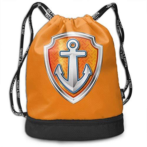 dge Patrol Police Unisex Waterproof Drawstring Backpack Rucksack Yoga Dance Travel Shoulder Bags ()