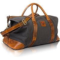 Leatherworld cuir wochenendetasche 05811 sac de voyage noir BDGLCK0e6