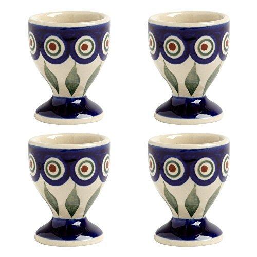 blue-peacock-handmade-ceramic-egg-cups-manufaktura-w-boleslawiec-genuine-hand-painted-polish-pottery