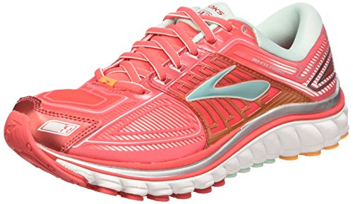 Brooks  Glycerin 13 W, Chaussures de course pour homme Multicolore Hibiscus/Blue Tint/Blazing Orange Multicolore - Hibiscus/Blue Tint/Blazing Orange