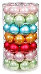 60x glas christbaumkugeln pastell bunt weihnachtskugeln gr n blau rosa pink k che. Black Bedroom Furniture Sets. Home Design Ideas