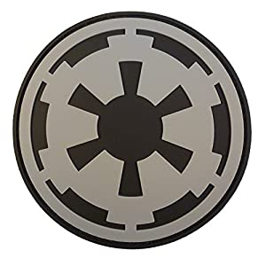 Star Wars Galactic Empire Crest Insigne Imperial Logo PVC Gomme 3D Hook-and-Loop Écusson Patch