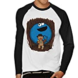 Indiana Jones Cookie Monster Gingerbread Man Mix Men's Baseball Long Sleeved T-Shirt