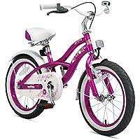 """Bikestar   Bicicleta para niños y niñas 16 Pulgadas   Color Rosa   A Partir de 4 años   16"""" Edición Cruiser 2018"""