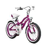 BIKESTAR Vélo Enfant pour Garcons et Filles de 4-5 Ans ★ Bicyclette Enfant 16 Pouces Cruiser avec Freins ★ Lilas