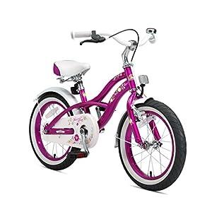 """BIKESTAR Bicicletta Bambini 4-5 Anni Bici Bambino Bambina 16 Pollici Freno a Pattino e Freno a retropedale 16"""" Cruiser…"""