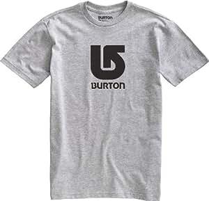 Burton Herren T-Shirt Logo Vertical Shortsleeve, Heather Grey, 52/54 (L), 11236100076