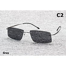 Aprigy The Matrix Style - Gafas de sol polarizadas para hombre, gris