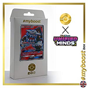 Heatran-GX 216/236 Full Art - #myboost X Sun & Moon 11 Unified Minds - Box de 10 cartas Pokémon Inglesas