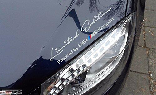 Aufkleber Auto Racing (Limited Edition BMW 30 cm Aufkleber,Sticker von myrockshirt ®, Autoaufkleber,Auto,Lack,Scheibe, Tuning , Racing aus Hochleistungsfolie ohne Hintergrund Profi-Qualität viele Farben zur Auswahl MADE IN GERMANY)