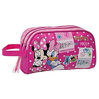 Disney Minnie y Daisy Neceser Adaptable, Color Rosa