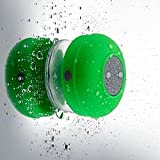 Wireless Stereo Shower Speakers, E LV Portable Waterproof Bluetooth Wireless Stereo Shower Speakers,Kid-friendly – Best for Bath, Pool, Car, Beach, Indoor/Outdoor Use – [GREEN]