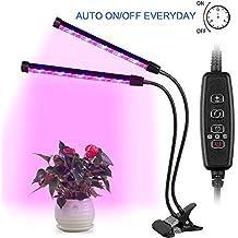 AGM Lampe de Plante, Lampe Croissance 24W 12LED avec Rotation à 360 ° Col de Cygne 3 Modes Minuterie (4H / 8H /12H) Dimmable 4 Niveaux