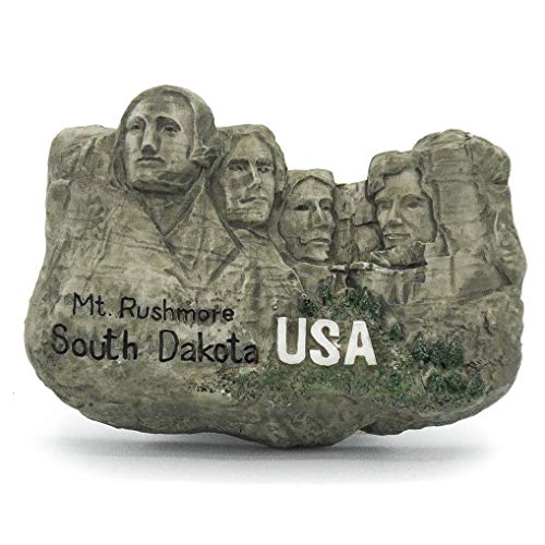 Mount Rushmore Nationales Denkmal South Dakota San Francisco Kalifornien USA 3D Handgemalter Harzmagnet Vereinigte Staaten von Amerika New York Liberty Lincoln Texas Los Angeles Vegas Grand Canyon