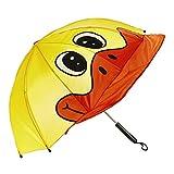 Kinder-Regenschirm, Tier-Design, 6 Designs zur Auswahl Ente
