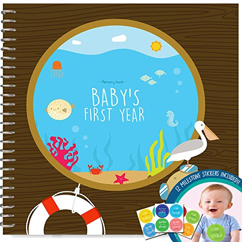 memory-book-stickers-unconditional-rosie-baby-boys-first-year-record-book-with-12-milestone-stickers