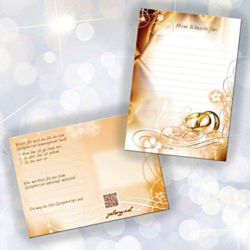 52 Postkarten Hochzeit - PORTOFREI möglich - Postkarten Set Hochzeit mit 52 Karten zur Hochzeit. Hochzeitsspiele mit Karten für Gäste und Brautpaar. Gute Wünsche Karten Hochzeit