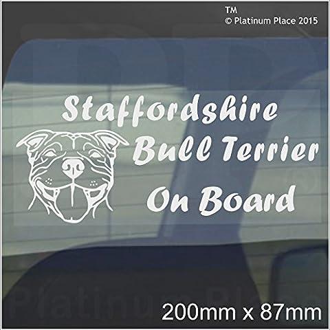 Staffordshire Bull Terrier Dog On Board Sticker-Car,Van-Staff Staffy Window