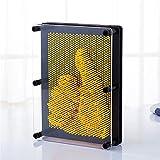 Sensail Sculptures Clous 3D Planche à Clous Pinpression Pinart Jouets pour Adultes et Enfants (jaune)