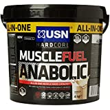 USN Muscle Fuel Anabolic 4 kg,Powerful All-In-One Shake,Supports Muscle Performance,Supports Muscle Recovery and Growth (Vanilla)