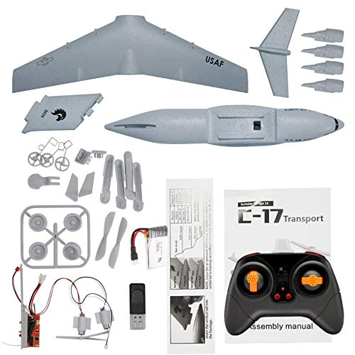 Knossos c17 transport 373mm wingspan epp rc drone airplane 2.4g 3-axis diy aircraft - white