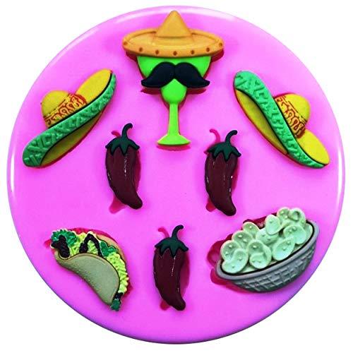 ikonform Sombrero Chili Tequilla Nacho Tacos für Kuchen Dekorieren Kuchen Cupcake Toppers Zuckerguss Werkzeug ()