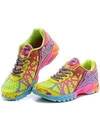 De la Mujer Luz Gel Noosa TRI 9Deportivas Trail carretera de running zapatillas competencia de carreras de zapatos calzado zapatillas en verde rojo, mujer, Green Red, EUR38