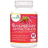 Simply Herbal Raspberry Ketones, Garcinia Cambogia, Green Tea Extract Weight Loss Supplement 800mg 60 Capsules...