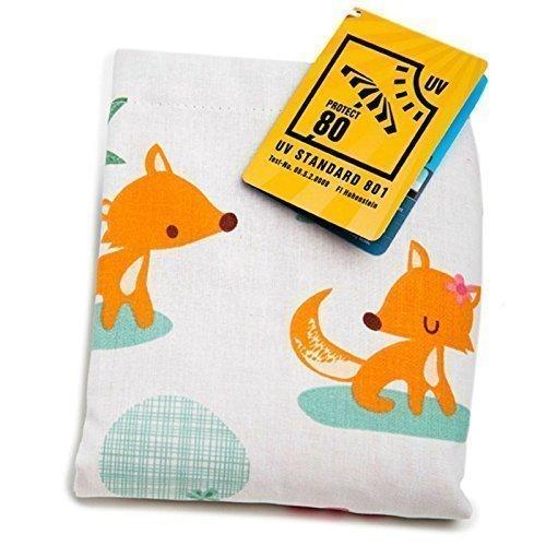 1512 - millemarille Sonnensegel sweet foxes I UPF 80 I passt auf jeden Kinderwagen I Füchse