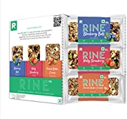 RINE Nutrition Bars |Sugarfree Energy Bar|6 assorted Granola bars| 2 Peanut Butter protein bars, 2 blueberry f